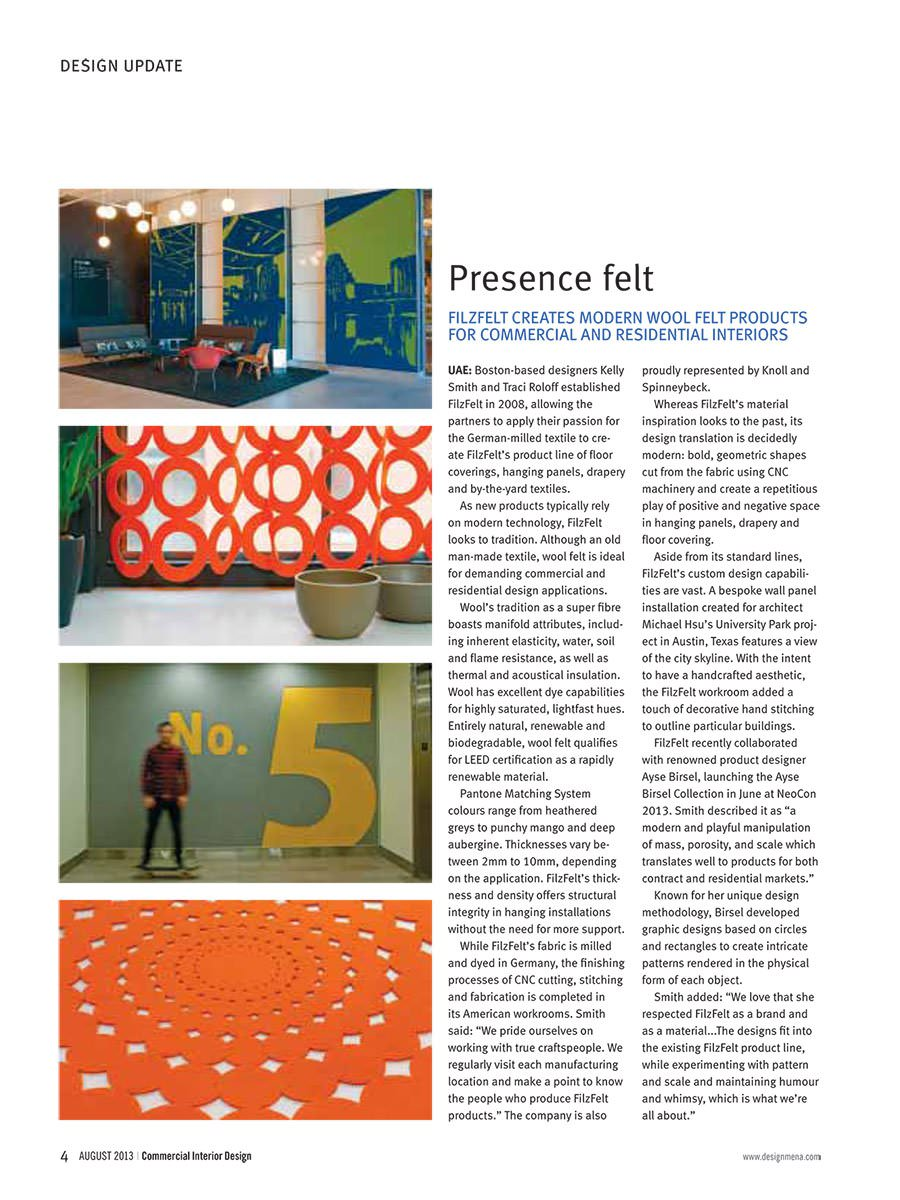 Commercial Interior Design, Aug 2013