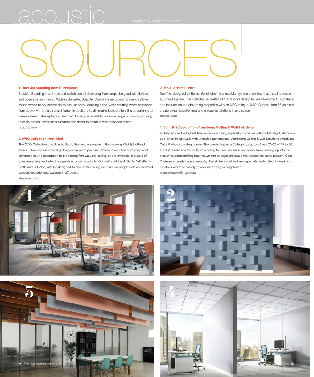 Interiors+Sources, Apr 2020