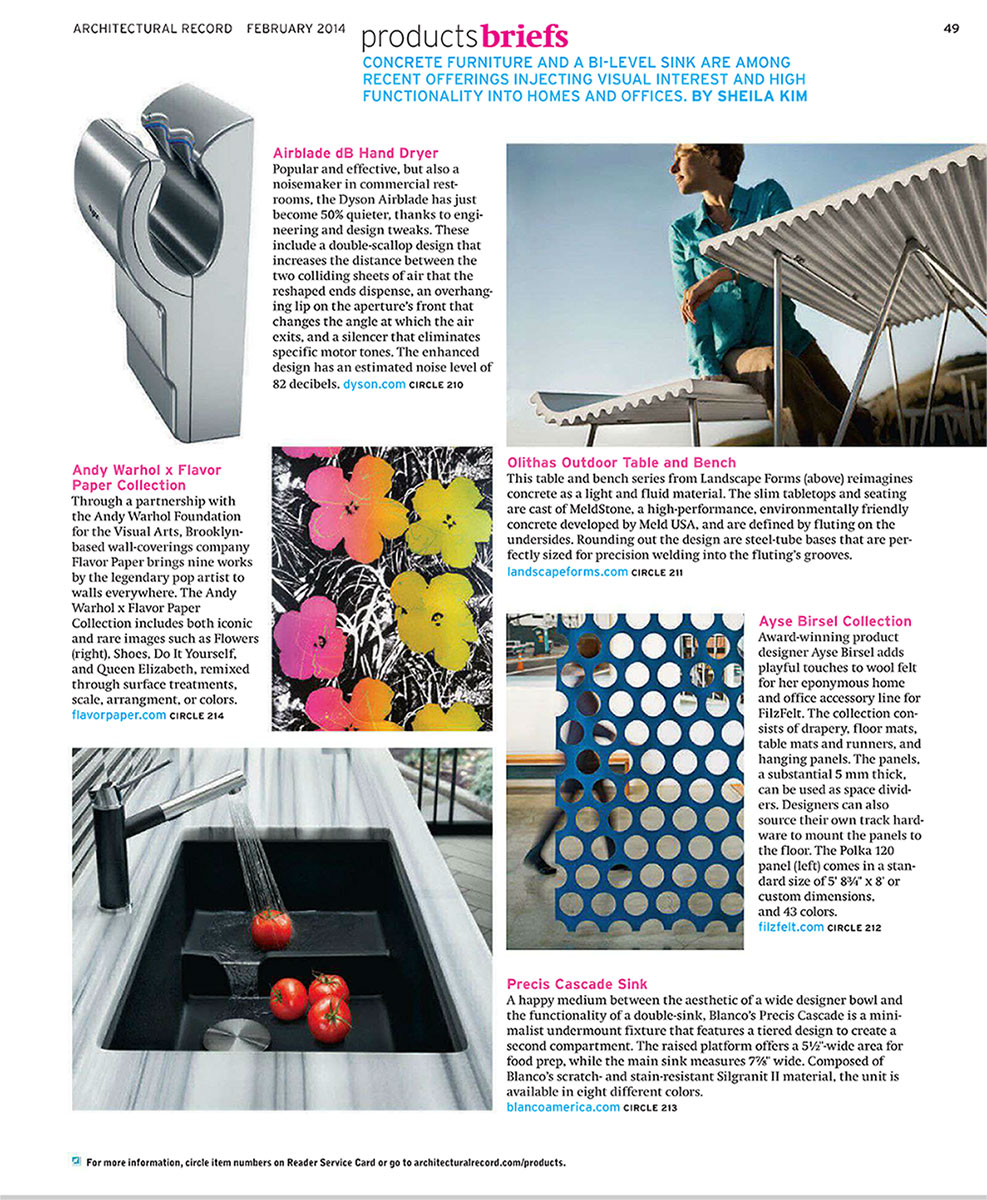 Architectural Record, Feb 2014